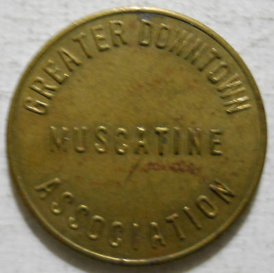 Greater Downtown Muscatine Association (Iowa) parking token - IA3640A