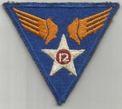 WW 2 US Army 12th Air Force Patch Inv# G983