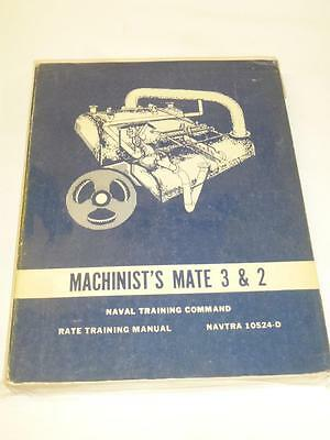 Vintage UNITED STATES NAVY MACHINIST'S MATE 3 & 2 MANUAL Training Book
