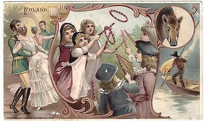 Poland VTC Victorian Trade Card Arbuckles Coffee # 19 T