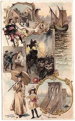 New York VTC Victorian Trade Card Arbuckles Coffee # 5 T