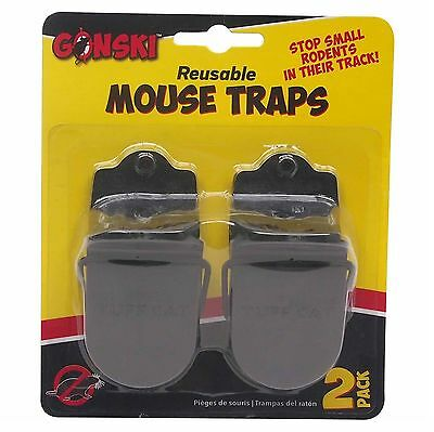 2 x Reusable Professional Reusable Mouse Traps Pest Small Rodent Spring Loaded