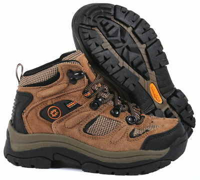 78a823bb9c9 NEVADOS CIRE MID Boy's Hiking Boots Kids Junior Walking Brown Suede Lace Up