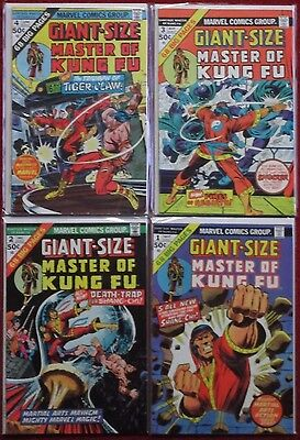 GIANT-SIZE MASTER OF KUNG FU #1,2,3,4 Full Set! All are 68 Pages! 1974 Shang-Chi