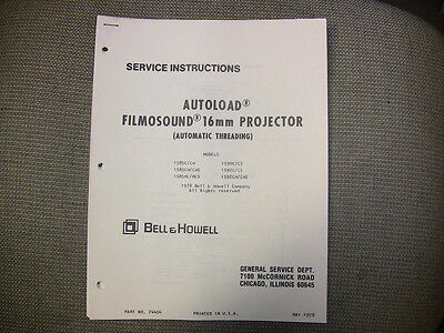 Bell & Howell Service Manual- 16mm 1585,1590,1592 & parts catalog and supplement