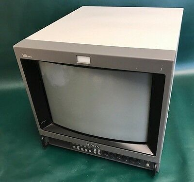"""SONY PVM-14M4U 14""""  COLOR VIDEO MONITOR FOR RETRO GAMING or SECURITY MONITOR"""