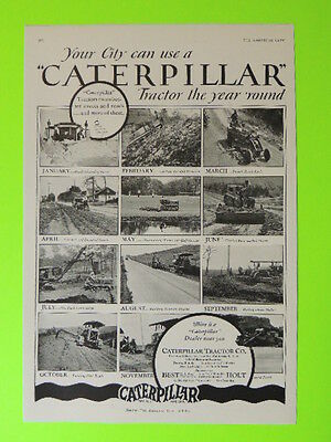 1928 Your City Can Use A Caterpillar Tractor Year Round ~ Multi Photo  Sales Ad
