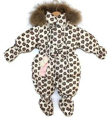 MONNALISA padded snowsuit real fur 3 months coat £300