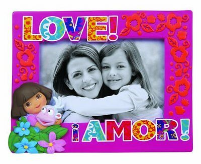 Precious Moments Dora The Explorer Love Amor Girl Family Picture Frame Pink 4x6