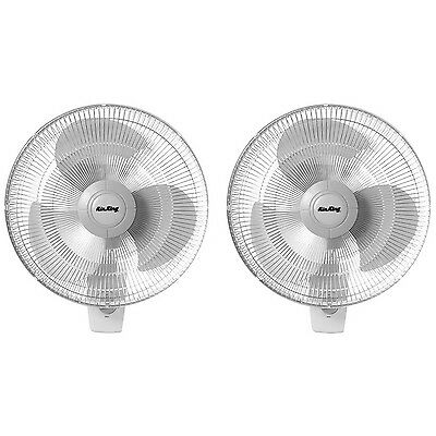 "Air King 12"" Blade 3-Speed 1/50 HP Motor Oscillating Wall-Mount Fan (2 Pack)"