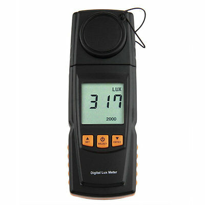 GM1020 LCD Display Digital Lux Light Meter Photometer Up to 200,000 Lux AK