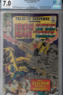 TALES OF SUSPENSE #72 (Dec 1965) CGC 7.0 OWW * Red Skull* Mad Thinker* Avengers*