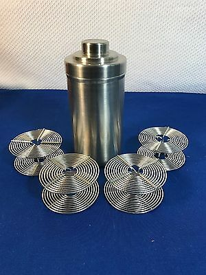 Nikor Stainless Large Steel Film Developing Tank with 4 35mm film Spools