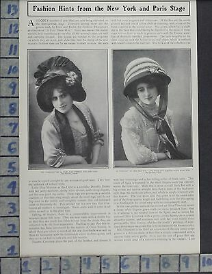 1909 Fashion Women Hats Cabriolet Carlier Paris Style Design Vintage Ad Di96