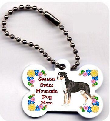 Greater Swiss Mountain Dog Mom Bone key ring chain