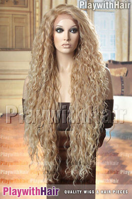 WOW! Super HOT Long Lace Front Wig Strawberry Blonde Tip