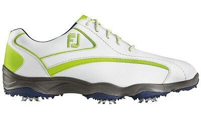 FootJoy SuperLites Cleated Golf Shoes White/Lime 9.5 Medium