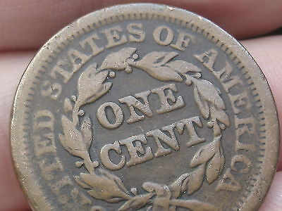 1852 Braided Hair Large Cent Penny- Fine/VF Details