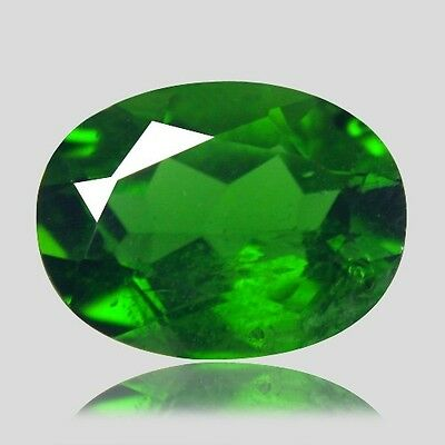1.42 Ct Amazing Rare 100% Natural Chrome Green Russian Chrome Diopside