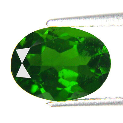 1.11 Ct Oval Shape Russian Chrome Diopside Natural Gemstone