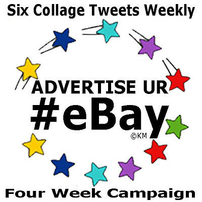 Promote eBay FOUR WEEK CAMPAIGN Advertise 6 Listings Day w/Picture Social Media