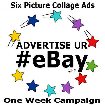 Promote eBay ONE WEEK CAMPAIGN Advertise 6 Listings Day w/Picture Social Media