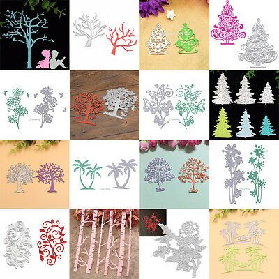 DIY Plants Silver Cutting Dies Metal Scrapbook Stencils Cutters Paper Card Craft