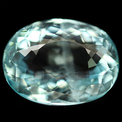 11.42 CT NATURAL! 12 X 16mm. AQUA BLUE SANTA MARIA AQUAMARINE OVAL