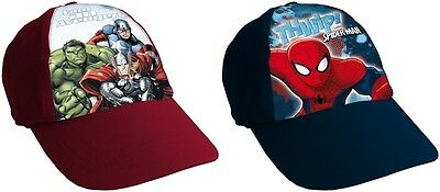Marvel Avengers Hulk Thor & Spiderman Baseball Cap Peaked Childrens Kids Sun Hat