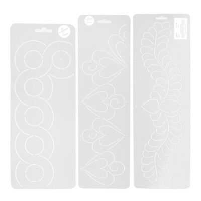 3pcs Plastic Quilting Stencil Creation Background for DIY Stitch Craft Tool