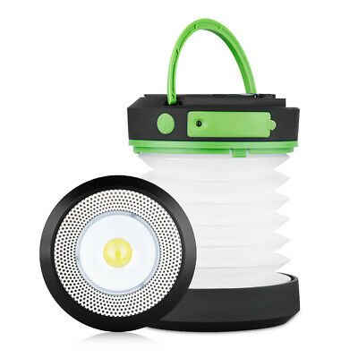 Portable LED Camping Lantern USB Cranking Dynamo Power Rechargeable Light Torch