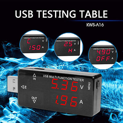 USB Charger Doctor Voltage Current Meter Handy Battery Tester Power Detector RAU