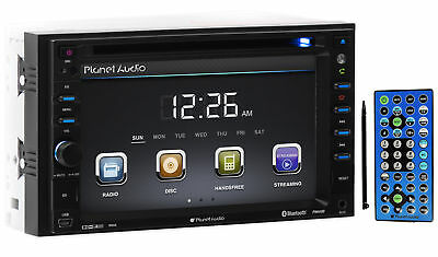 "Planet Audio P9640B In-Dash 2-DIN 6.2"" DVD Bluetooth Receiver AUX/USB/SD+Remote"