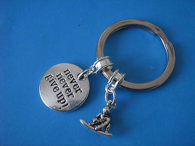 Snowboarding Keyring Snowboarder Snowboard Keychain Gift for a Snow Boarder