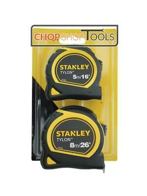 Stanley Tylon Pocket Tapes TWIN Pack 5m/16ft + 8m/26ft STA998985