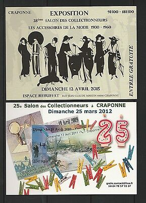 CPM   3 cartes salon collection a Craponne  en 2011  2012 et 2015