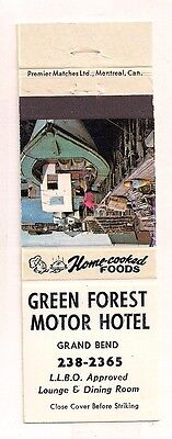 Green Forest Motor Hotel Grand Bend ON Ontario Matchcover 031917
