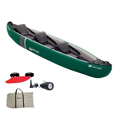 Canoa Gonfiabile Sevylor New Adventure Plus 2+1 Posti Kayak Inflatable