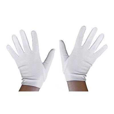White Childs Costume Gloves One Pair Theatrical Military Parade Dress Up