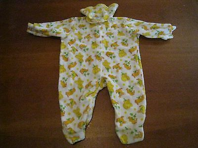 Carter's vintage baby terry cloth sleeper SMALL to 11 lbs footed Circus Bear etc