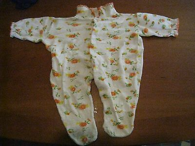 Lord Taylor Young People's Shops vintage baby terry cloth sleeper 11-18lbs 1970s