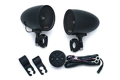 Kuryakyn RoadThunder Speaker Pods with Bluetooth Audio Controller by MTX Black