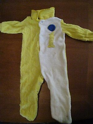 LeRoi baby sleeper onesie terry cloth polyester vintage 1970s birth to 12 lbs.