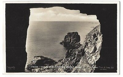 SARK The Window in the Rock, RP Postcard by Tuck Postally Used 1938