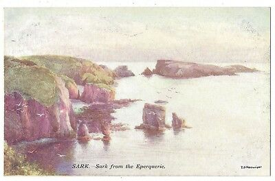SARK from the Eperquerie by ES Cheeswright, Old Postcard, Unused