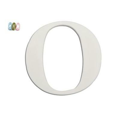 "Babies""R""Us 9167 O White Wooden Personalizable Letter Wall Decor 7.5 Inch BHFO"