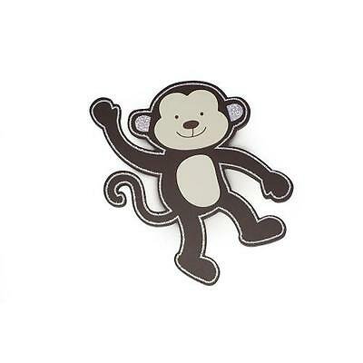 "Babies""R""Us 2376 Brown Wooden Nursery Hanging Monkey Wall Decor 14 Inch BHFO"