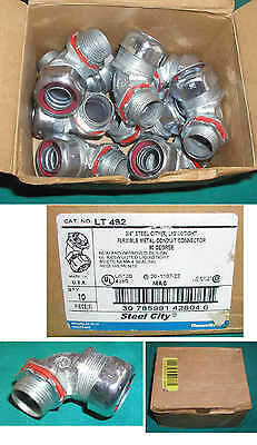 "Lot Of 9 Thomas & Betts 3/4"" Liquidtight Flexible Conduit 90 Degree Connetors"