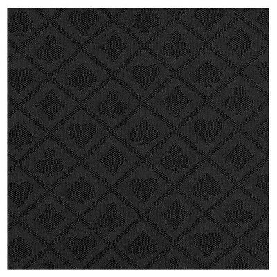 108 x 60 INCH FULL SIZE POKER TABLE SUITED SPEED WATERPROOF CLOTH BLACK COLOR