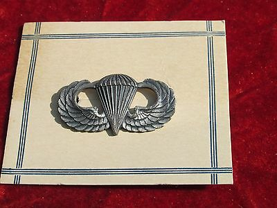 WW 2 Airborne Jump Wing on store card 101st 82nd 17th Paratrooper D Day
